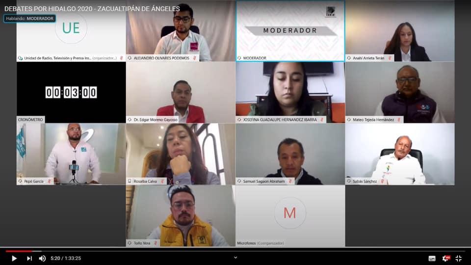 Primer debate virtual candidatos