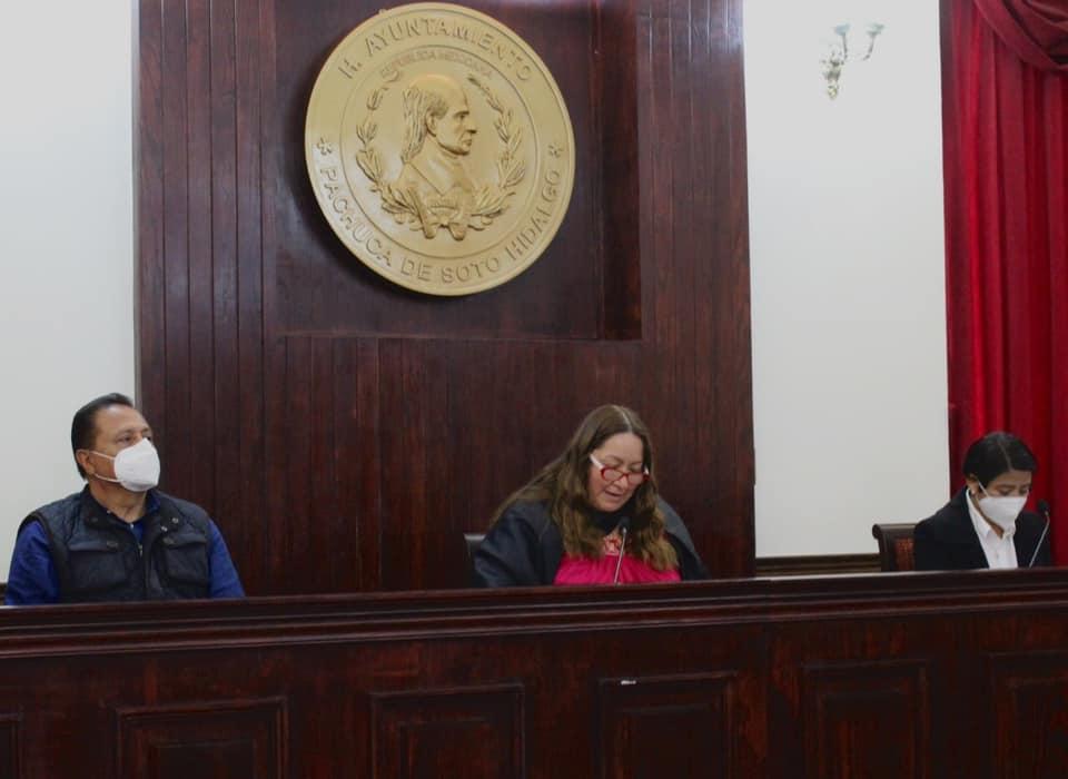 Sesión de cabildo concejo municipal Pachuca