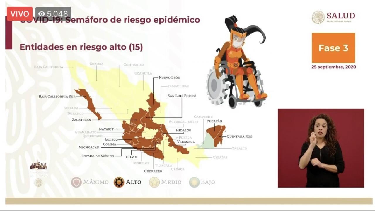Hidalgo semáforo de riesgo epidemiológico