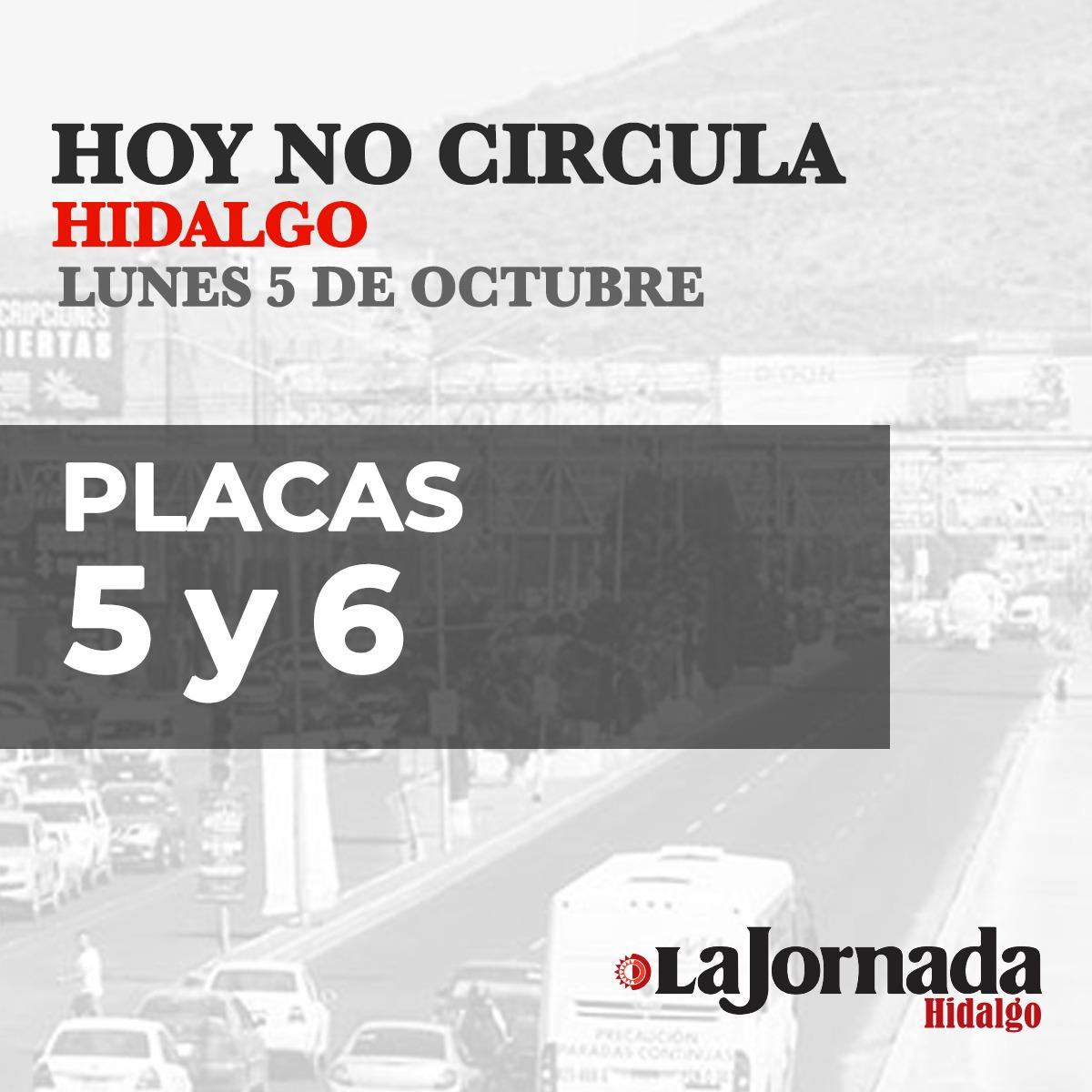 Hoy No Circula Hidalgo Lunes 5 de octubre