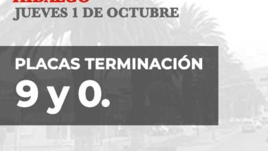 Hoy No Circula Hidalgo viernes 02 de octubre 2020