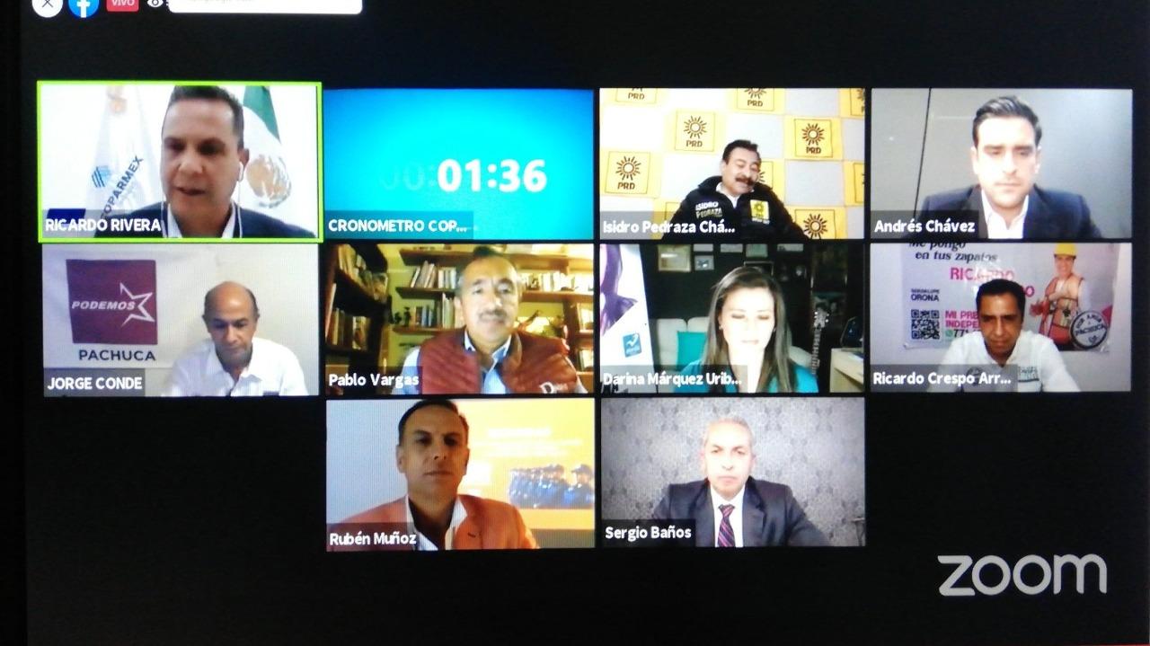 Realiza Coparmex foro con ocho de nueve candidatos