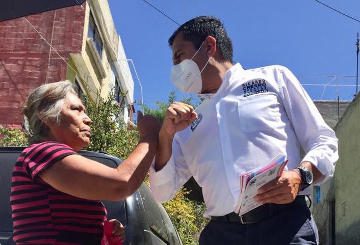 Ricardo Crespo en campaña