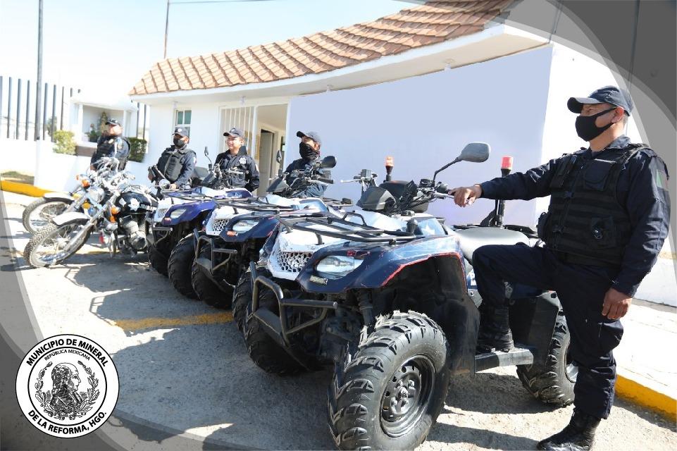 Cuatrimotos patrullas Mineral de la reforma