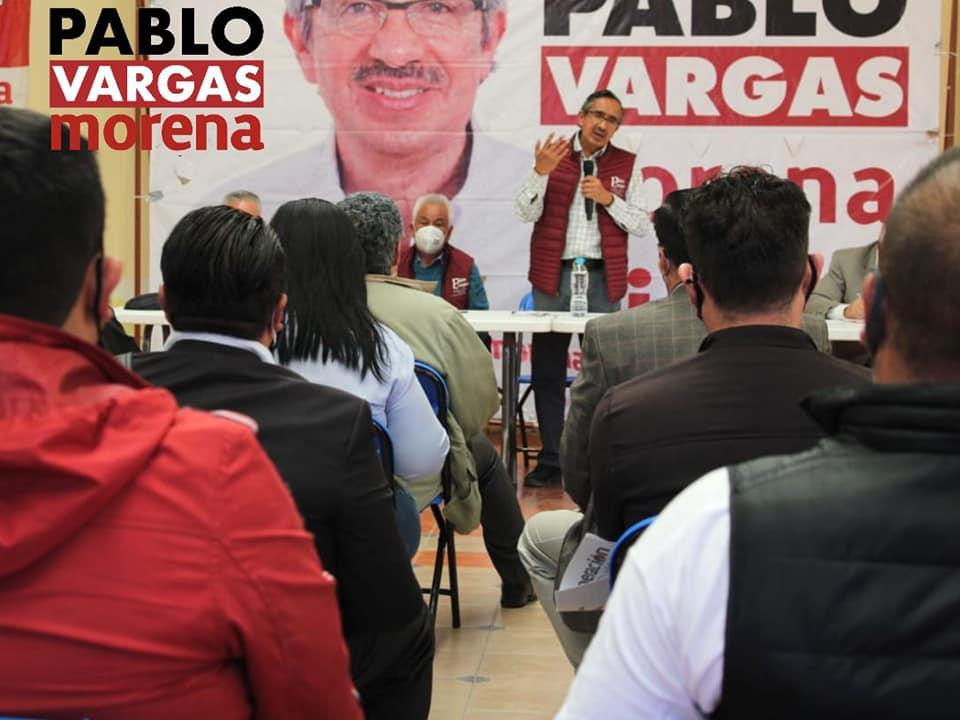 Pablo Vargas en campaña