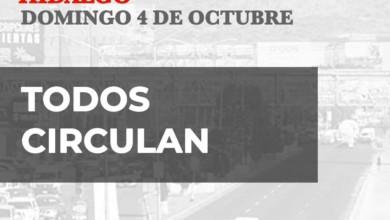 Hoy No Circula Hidalgo 4 de octubre 2020