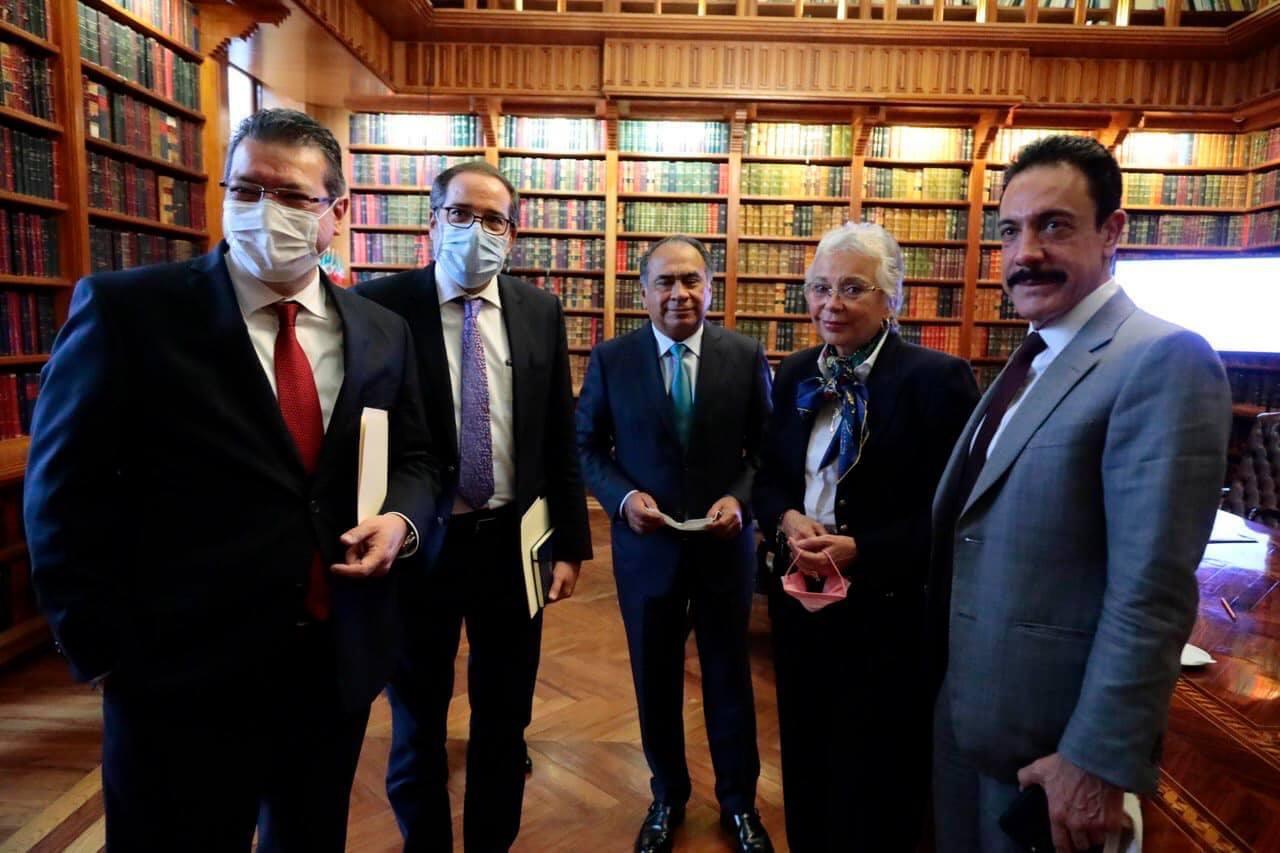 Omar Fayad y gobernadores del PRI