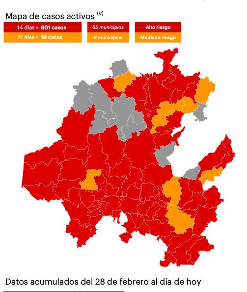 mapa covid Hidalgo