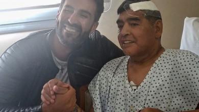 Diego Armando Maradona y su médico de cabecera