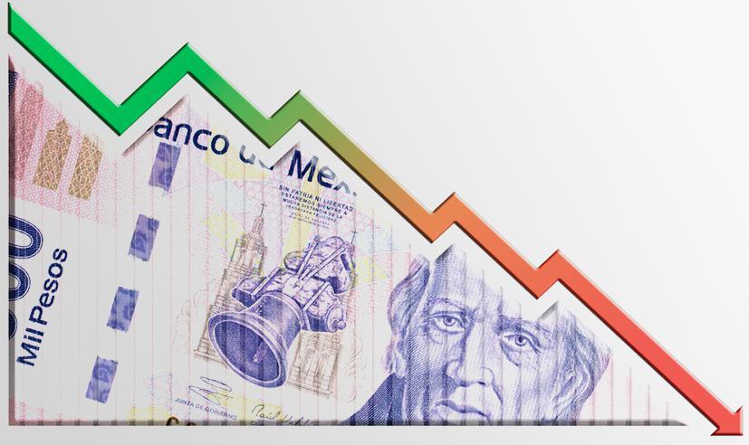 Economía mexicana se desploma