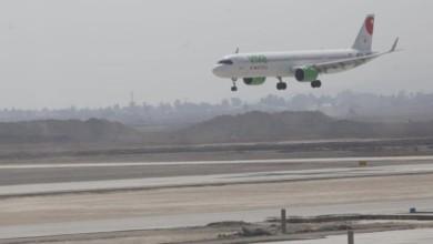 Primer avión comercial aterrizando en Santa Lucía