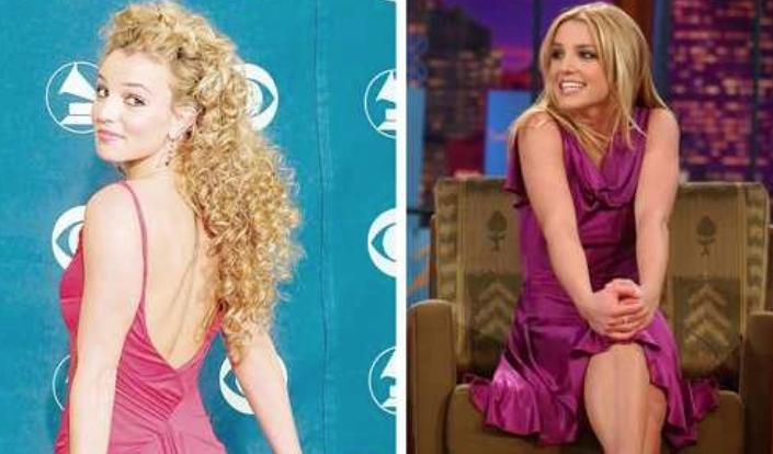 Britney Spears en dos momentos de su vida. Foto Afp