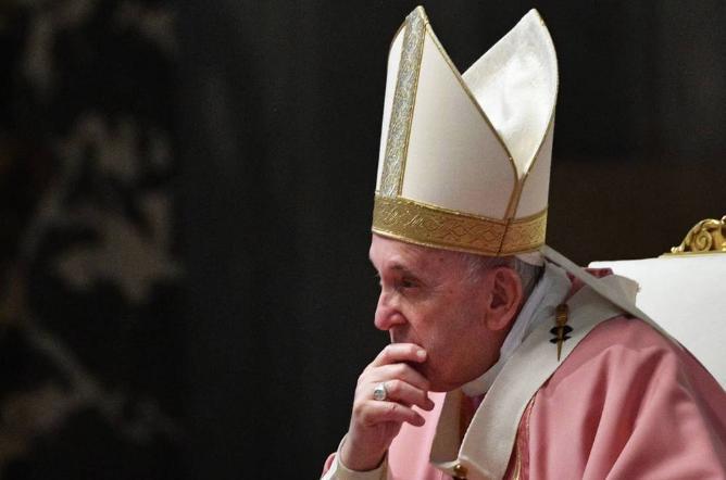 El papa Francisco aprobó el comunicado. Foto: EFE
