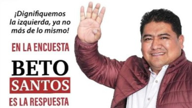 Beto Santos, precandidato a diputado local del distrito 10 Mixe por Morena en el distrito de Choapam, en Oaxaca