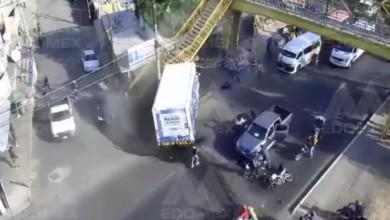 Camión arrolla a motociclista en la México-Texcoco