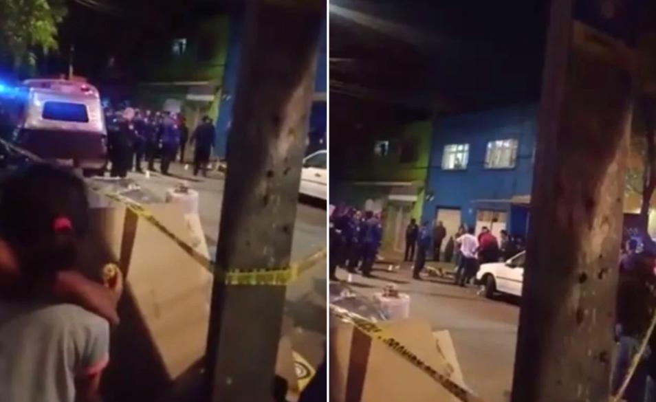 Una balacera CDMX dejó como saldo una persona muerta y tres más lesionadas/Foto captura de pantalla de video de El Universal