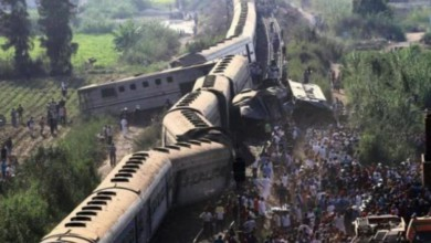 Choque de trenes en Egipto/Foto tomada de Twitter