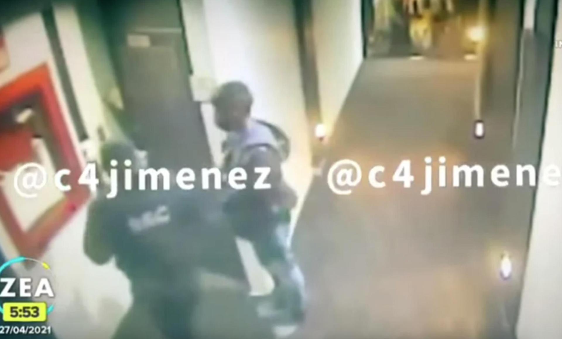 Momento de la detención de Saúl Huerta