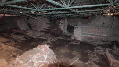 La fuerte granizada ocurrida en la Ciudad de México el 28 de abril, provocó el colapso de la cubierta de la Casa de las Águilas en la Zona Arqueológica del Templo Mayor.