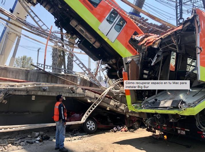 Los restos del tren dañado por el incidente de la Línea 12 del Metro la noche del lunes. Foto Luis Castillo